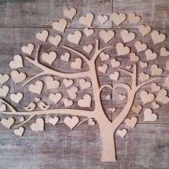 Gästebuch als Wedding Tree aus Holz - Modell 1