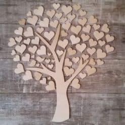 Gästebuch als Wedding Tree aus Holz - Modell 2