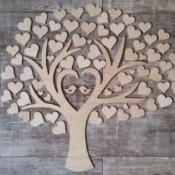 Gästebuch als Wedding Tree aus Holz - Modell 3