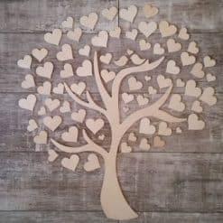 Gästebuch als Wedding Tree aus Holz - Modell 4