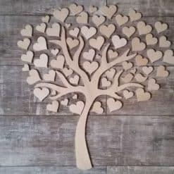 Gästebuch als Wedding Tree aus Holz - Modell 5