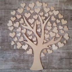 Gästebuch als Wedding Tree aus Holz - Modell 6