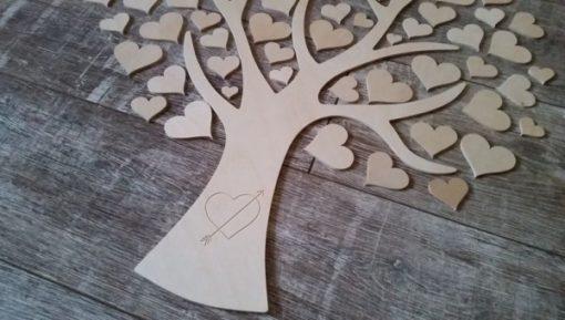 Gästebuch als Wedding Tree aus Holz - Modell 7