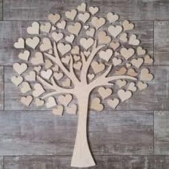 Gästebuch als Wedding Tree aus Holz - Modell 8