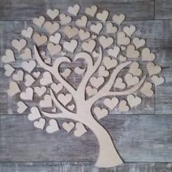 Gästebuch als Wedding Tree aus Holz - Modell 9