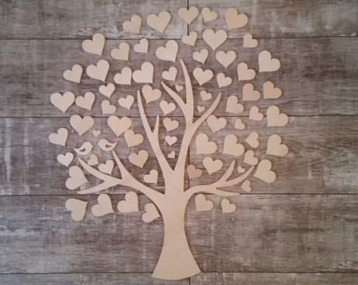 Gästebuch als Wedding Tree aus Holz - Modell 10