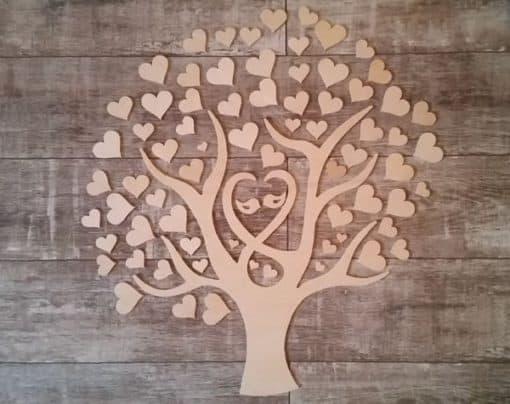 Gästebuch als Wedding Tree aus Holz - Modell 11
