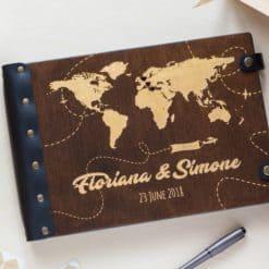 Gästebuch Hochzeit aus Holz mit Gravur - Traumreise
