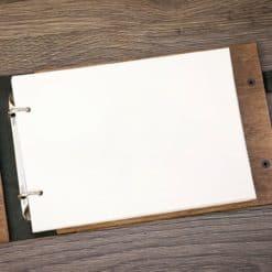 Gästebuch Hochzeit aus Holz mit Gravur - Pfeile