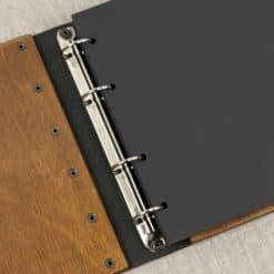 Stammbuch aus Holz mit Gravur - Modern