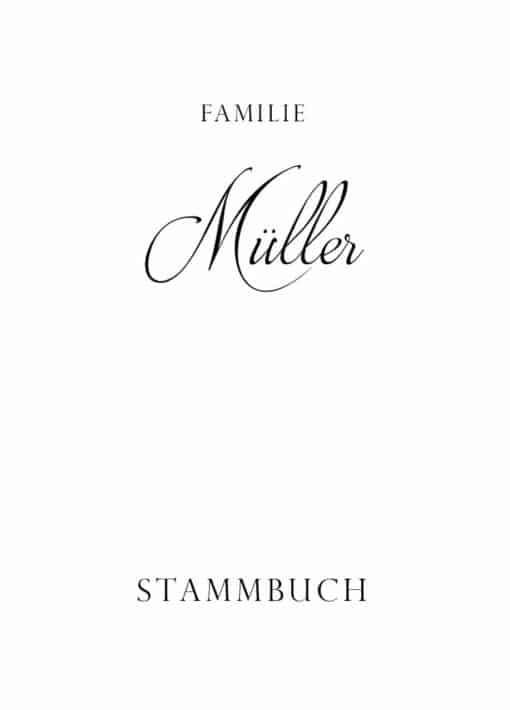 Stammbuch aus Holz mit Gravur - Klassik